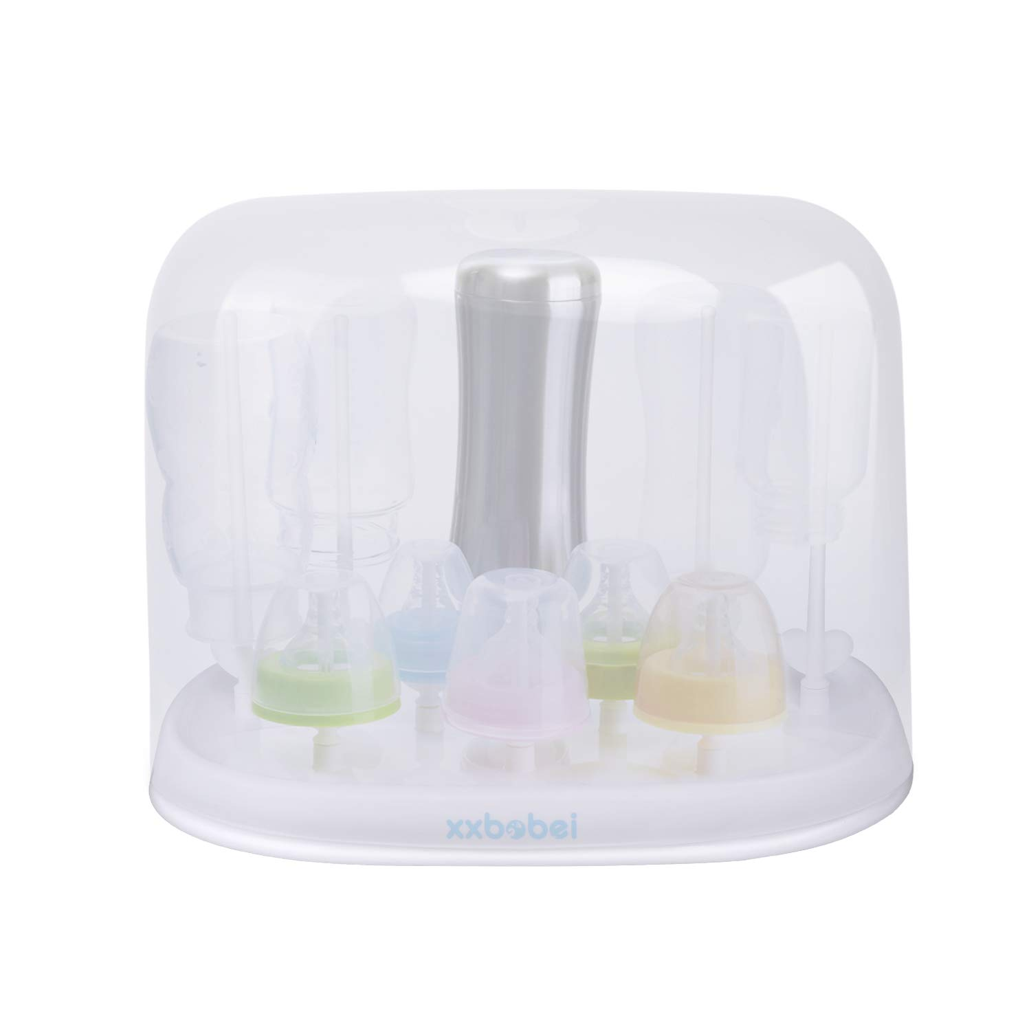 Cups Baby Care Bottle Holder Straight Tube White Pacifiers with Cover Baby Bottle Drying Rack for Bottles /…
