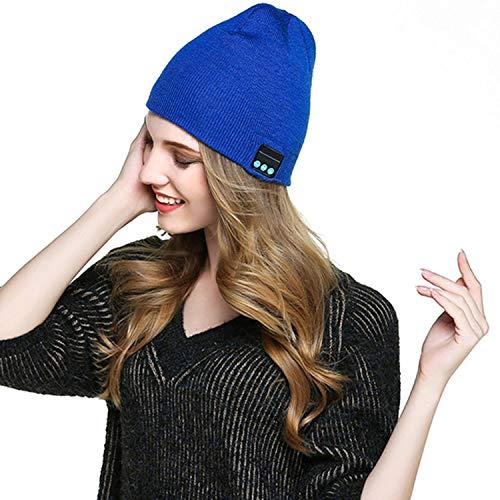 Tiowea Women Men Bluetooth Wireless Headset Music Beanie Knit Hat with Speakers and Mic Skullies & Beanies