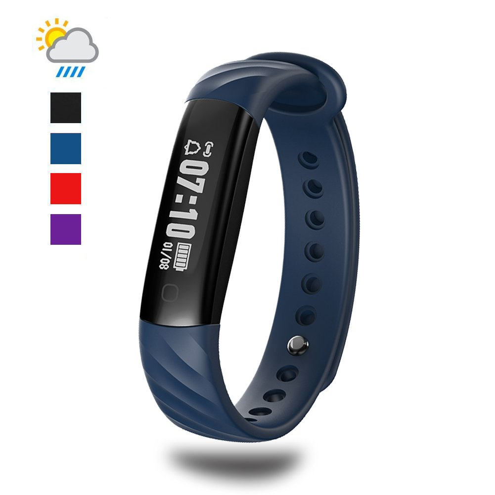 Fitness Tracker, I5A Waterproof Fitness Sport Pedometer Smart Bracelet Activity Tracker Sleep Monitor Pedometer Wristband for Android and iOS Smartphone