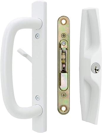 Veranda - Juego de tirador de puerta corredera de cristal Veranda, con llave, orificios para tornillo de 10 cm: Amazon.es: Bricolaje y herramientas