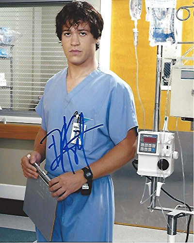 "T. R. KNIGHT as DR. GEORGE O'MALLEY on MEDICAL DRAMA TV Series""GREY'S ANATOMY"" Signed 8x10 Color Photo by..."