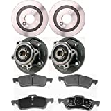 Prime Choice Auto Parts RHBBK0084 Set of Rear Brake Rotors, Brake Pads & Hub Bearing Assemblies
