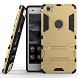 Huawei P8 lite Case, BRILA® slim armor case with kickstand for Huawei P8 lite (gold)