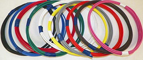Automotive Copper Wire, GXL, 16 GA, AWG, GAUGE Truck, Motorcycle, RV, General Purpose. Order by 3pm EST Shipped Same Day (10 Colors 25' Each)