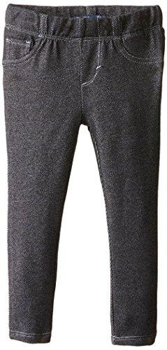 Girls Pant Knit - Levi's Girls' Toddler Essential Knit Leggings, Black 4T