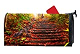 Decorative Magnetic Mailbox Cover Standard Mailbox Wrap Fall Mailbox Cover With Fall Travel