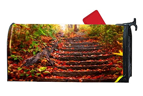 Decorative Magnetic Mailbox Cover Standard Mailbox Wrap Fall Mailbox Cover With Fall Travel by Mailboxcoverfhiw