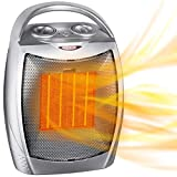 1500W / 750W Ceramic Space Heater with Overheat Protection & Tip-Over...