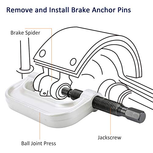 OrionMotorTech Heavy Duty Ball Joint Press & U Joint Removal Tool Kit with 4wd Adapters, for Most 2WD and 4WD Cars and Light Trucks (BK) by OrionMotorTech (Image #5)