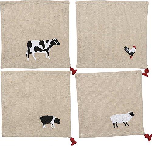 Primitives by Kathy Cocktail Napkin Set - Animals by Primitives by Kathy