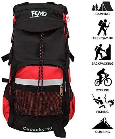 kunpron 60L para hombre mochila de senderismo ligero resistente al agua, negro Casual grande senderismo mochilas para viajes Camping Escalada ...