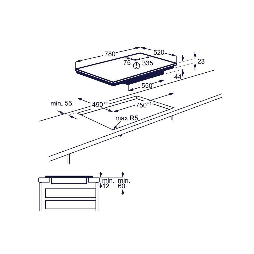 Electrolux EIS 84486 - Vitrocerámica de inducción (80 cm ...