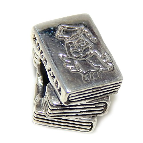 Price comparison product image Pro Jewelry 925 Solid Sterling Silver Textbooks with Owl Picture Charm Bead