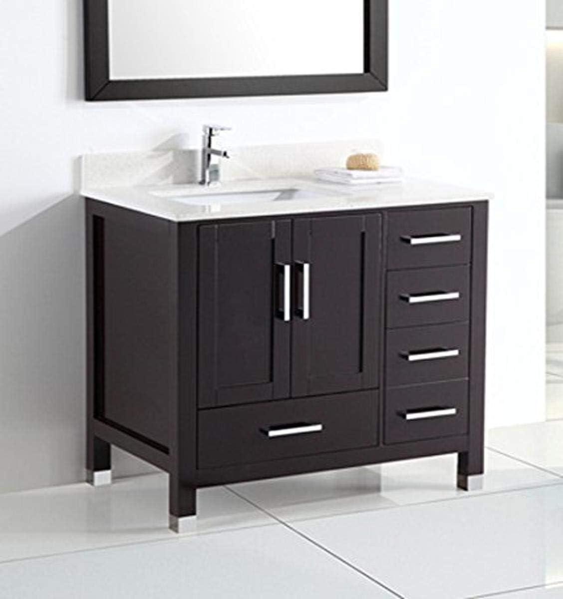 Belvedere Bath L9030 Bathroom Vanity 36 W X 22 D X 34 H Espresso Amazon Com