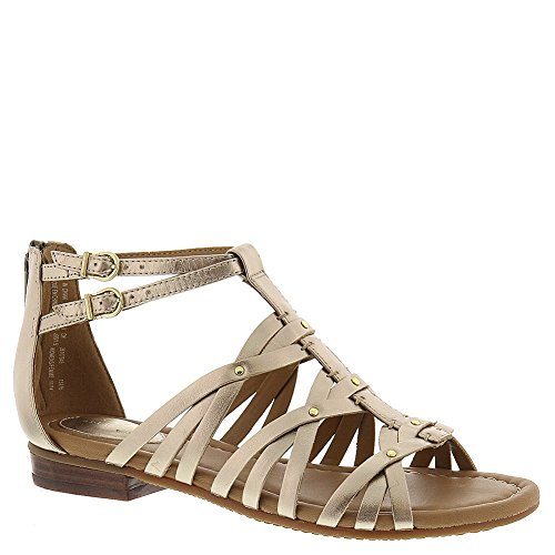 d324d88b3 Clarks Womens Viveca Rome Gold Leather Gladiator Sandal - 8.5 - Import It  All