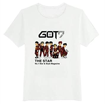 GOT 7 Kpop T shirt Short sleeve shirt accessoires +1 piece of GOT 7 poster
