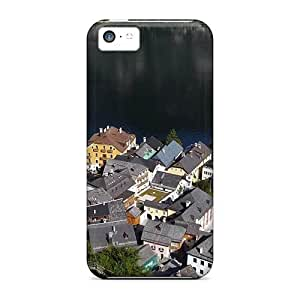 Iphone 5c Hard Back With Bumper Silicone Gel Tpu Case Cover Town By Hallstatt Lake Austria