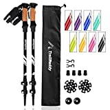 TrailBuddy Trekking Poles - 2-pc Pack Adjustable Hiking or Walking Sticks - Strong, Lightweight Aluminum 7075 - Quick Adjust Flip-Lock...