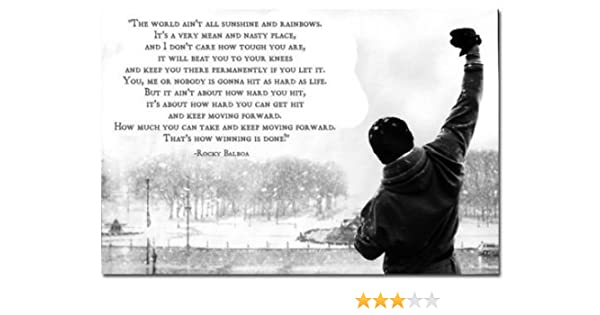 Rocky Balboa Motivational Quotes Art Poster 20 30
