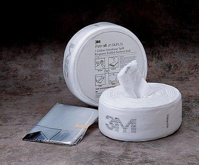 3M Petroleum Sorbent Spill Kit P-SKFL5, Petroll, 5 Gallon [PRICE is per ROLL]
