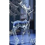Pack of 4 Icy Crystal Decorative Christmas Standing Deer Figurines 11.6 quot;