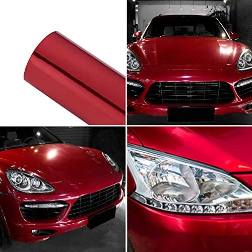 ATMOMO Laser Silver Colorful Glossy Car Vinyl Wraps Vehicle Film Decal Roll 1.52Mx20CM