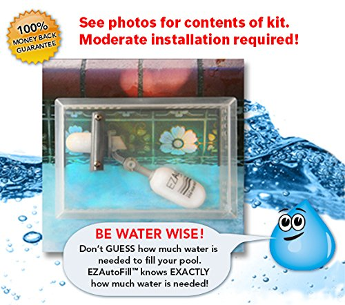 Swimming Pool Auto Fill Valve and Protective Cover- EZAutoFill - The Water Wise Solution! (Valve Covers Water)