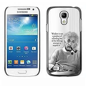 Design for Girls Plastic Cover Case FOR Samsung Galaxy S4 Mini i9190 Einstein Albert Science Quote Smart Man OBBA