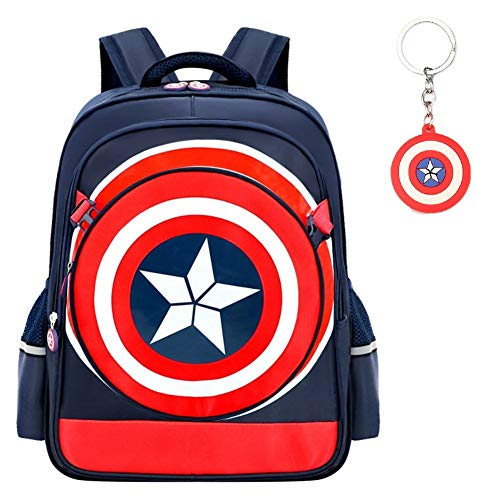 Captain America Movie Treat Bag - Waterproof Captain America 3D Bag Backpack