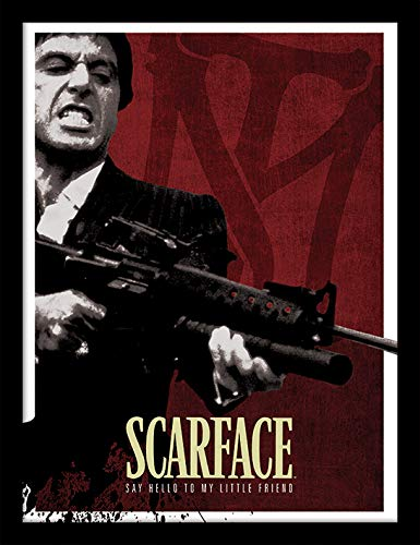 Scarface Stampa incorniciata Blood Red,, 30 x 40 cm Pyramid International FP11310P-PL