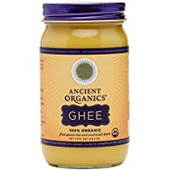 ANCIENT ORGANICS 100% Organic Ghee from Grass-fed Cows, 16oz