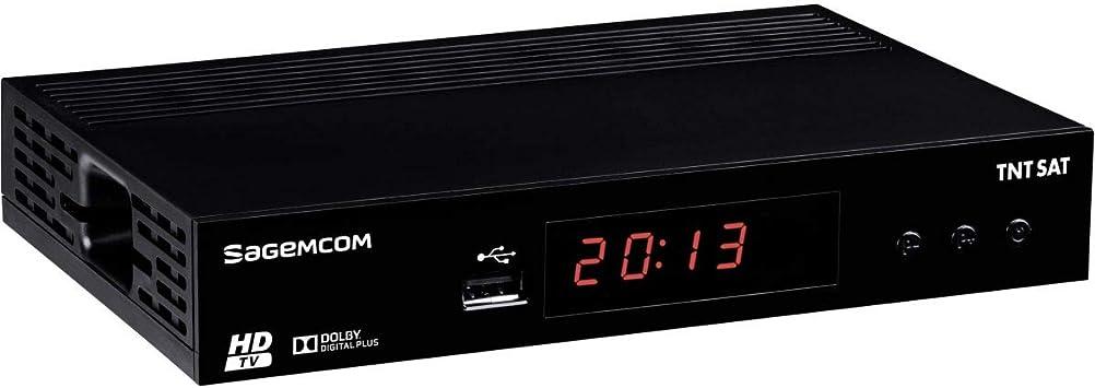 Noir SAGEMCOM TNTSAT DS81HD R/écepteur TV Satellite HD