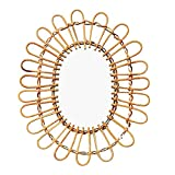 Mirror Makeup Mirror Rattan Innovative Art