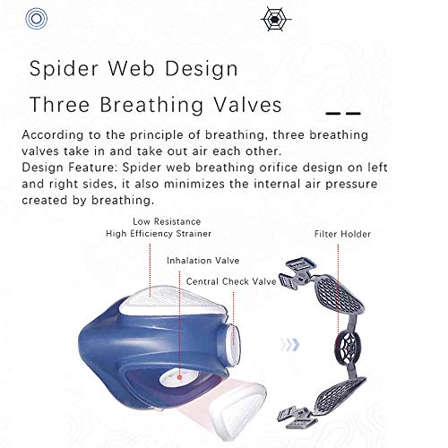 Reusable Half Respirator,With Hepa filter
