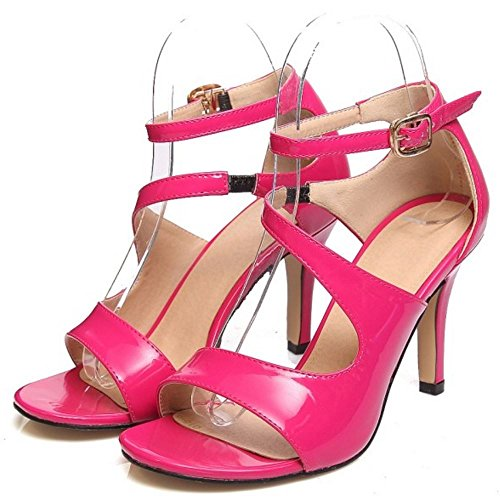 Coolcept Women Stiletto Sandals Open Toe Shoes Rose Red sKQaYsGg
