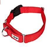 GoGo Pet Products Martingale 1'' Wide Fits a Dog with a 16''-21'' Girth Gentle Training Collar, Medium/Large, Red