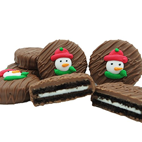 Philadelphia Candies Milk Chocolate Covered OREO Cookies, Christmas Snowman Face Net Wt 8 oz