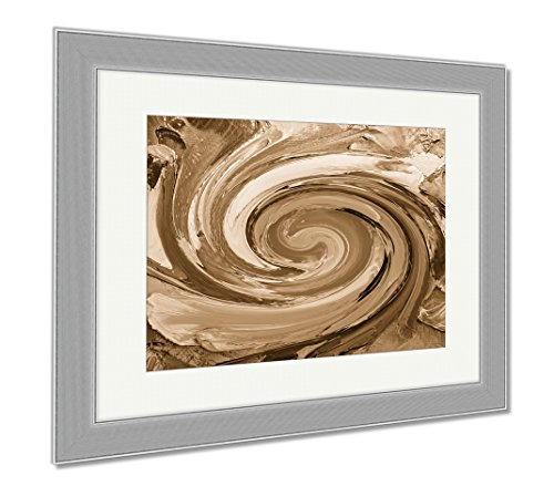 Palette Framed (Ashley Framed Prints Oil Painting Flowers Art Painted Color Image Paint Wallpaper And S Canvas, Wall Art Home Decoration, Sepia, 30x35 (frame size), Silver Frame, AG5768758)