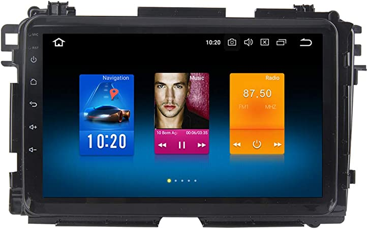Dasaita Android 9.0 Car Stereo for Honda Vezel HR-V HRV 2014 2015 2016 2017 Gps Navigation Radio with 9 Inch Screen 4G Ram Head Unit