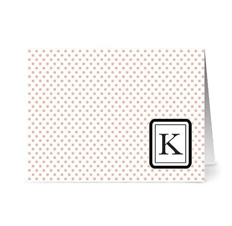 Amazon.com: Dots Monogram – 24 – Tarjetas en Blanco Moderno ...