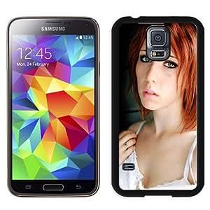 New Custom Designed Cover Case For Samsung Galaxy S5 I9600 G900a G900v G900p G900t G900w With Sensual Redhead Girl Mobile Wallpaper.jpg