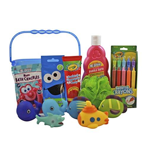 Mr Bubble Bath Time Fun Set Featuring Mr Bubble Bath, Crayola Bath Tub Crayons, Mr Bubble Bath Crackles, Color Drops, Bath FIngerpaint, Body Pouf, and Bath (How To Crackle Paint)