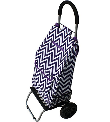 trolley-dolly-purple-chevron-shopping-grocery-foldable-cart