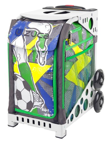 Zuca World Cup inspired Striker roller bag- choose your frame color! (white frame) by ZUCA