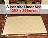 Easyology Premium Cat Litter Mat, XL Super Size, Beige