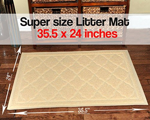 Easyology-Premium-Cat-Litter-Mat-XL-Super-Size-Beige