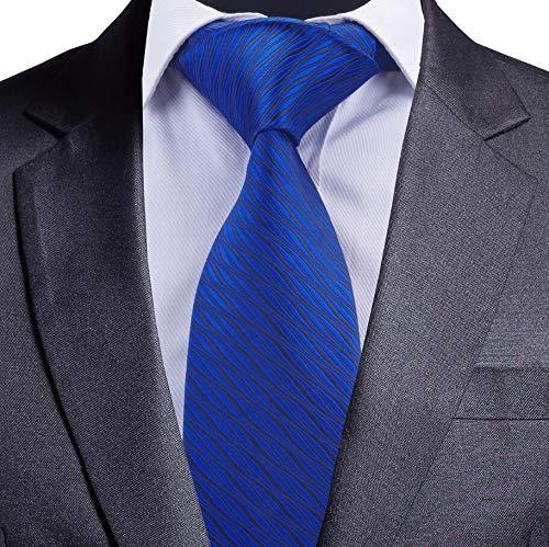 LLZGPZLD Corbata/Corbata A Rayas De 8 Cm para Hombre Corbata Azul ...