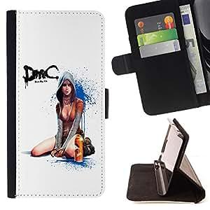 BullDog Case - FOR/Samsung Galaxy A3 / - / Devil Cry Sexy Girl /- Monedero de cuero de la PU Llevar cubierta de la caja con el ID Credit Card Slots Flip funda de cuer