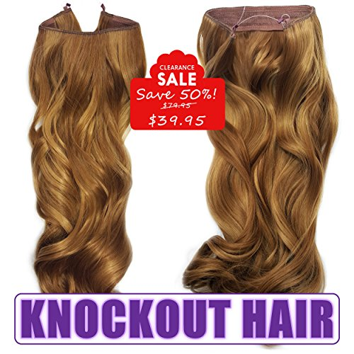 Knockout Hair 20-Inch Fiber Wavy Hair Extensions, 150 Grams,  #27R/27HY - French Cognac/Dark Golden Blonde (French Cognac)