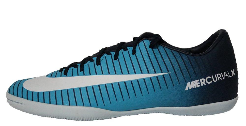 Nike Mercurial X Victory VI Fußballschuh für die Halle, für Erwachsene, Blau Cyan, Bedruckt, Größe 44